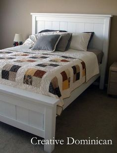 Anna White this will be Jordynns bed when its time! Furniture Plans, Bedroom Furniture, Home Furniture, Bedroom Decor, Painted Furniture, Bedroom Ideas, Furniture Cleaning, Cheap Furniture, Anna White