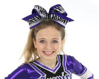 Purple Zebra Big Cheer Hair Bow Big Cheer Bows, Cheer Hair Bows, Girl Hair Bows, Big Bows, Girls Bows, Purple Zebra, Ribbon Bows, Purple And Black, Cheerleading