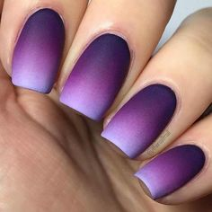 Beautiful Purple Gradient Nails