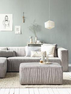 vtwonen Lazy 3-Zitsbank + Dormeuse heeft een mooie kleur en is prachtig te combineren met witte en zwarte kleuren!