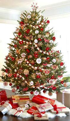#Christmas tree #decoration ideas ToniKami Ðℯck Ʈհe HÅĿĿs rustic Scandinavian
