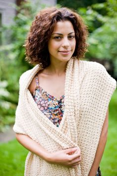 Lion Brand free knitting pattern: Shawl of Gratitude (easy)