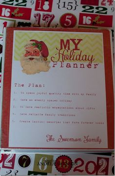 My personal Christmas Planner for organizing the madness.  I am sharing the printable for FREE.