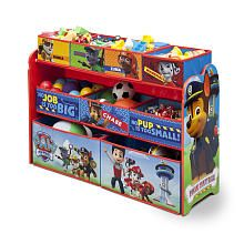 Your kid's favorite crime-fighting canines come to life on this Paw Patrol Deluxe Multi-Bin Toy Organizer from Delta Children! Featuring 9 uniquely-sized fabric bins supported by a sturdy wood frame, it's finished with colorful illustrations of charcters Kids Bench, Kids Play Table, Kids Sofa, Nick Jr Paw Patrol, Paw Patrol Toys, Kids Storage Units, Storage Bins, Toy Storage Solutions, Storage Ideas
