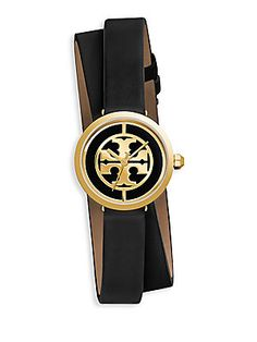 Tory Burch Reva Leather Strap Watch
