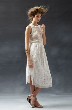 Style tip: Wear this girl. by Band of Outsiders dress backwards to bring a daring, skin-baring look to the waist.