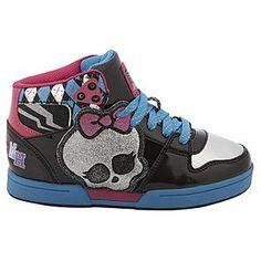 Monster High shoes for girls | High Girl's Sneaker Monster High Hi-Top