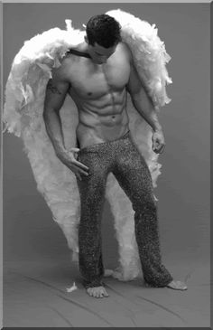 If this is Cupid, I'm not mad at him. I am a little upset with those pants though.