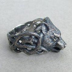 // wolf-head ring