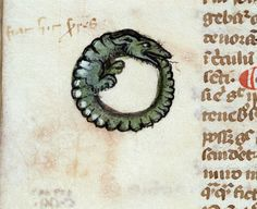 The sweetest ouroboros. #worldbythetail Troyes, Bibl. mun., ms. 0859, f. 054v