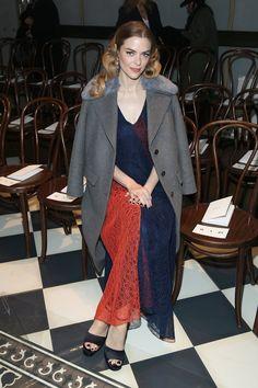 Pin for Later: Le Meilleur de la Fashion Week de New York Se Trouvait au Premier Rang Jaime King Au défilé Tory Burch.