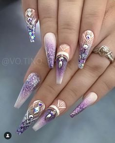 Spectacular Nail Design Ideas To Try Asap - Nail designs or nail art is a very simple concept - designs or art that is used to decorate the finger or toe nails. They are used predominately to en. Source by ayayoutfitsdotcom Dope Nails, Glam Nails, Fancy Nails, Bling Nails, Stiletto Nails, Coffin Nails, Fancy Nail Art, Fabulous Nails, Gorgeous Nails