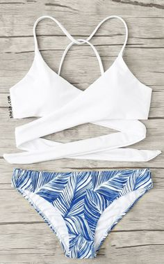 126a711430 Crisscross Tropical Print Bikini Set Swimsuits For Tweens, Bathing Suits For  Teens, Summer Bathing