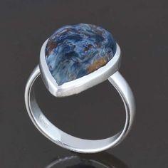 EXCLUSIVE 925 STERLING SILVER PIETERSITE RING 5.03g DJR8172 SZ-8.5 #Handmade #Ring