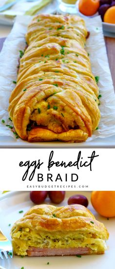 Make this delicious, guest-worthy Eggs Benedict Breakfast Braid for holiday brea. - Make this delicious, guest-worthy Eggs Benedict Breakfast Braid for holiday breakfast, brunch, brin - Breakfast Braid Recipe, Best Breakfast Recipes, Breakfast Dishes, Breakfast Time, Breakfast Ideas With Eggs, Brunch Egg Dishes, Chicken Breakfast, Mexican Breakfast, Chicken Thights Recipes