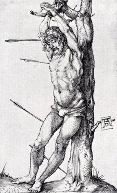 St. Sebastian At The Tree - Albrecht Durer