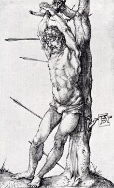 St. Sebastian At The Tree - Albrecht Durer