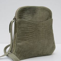 SMALL Leather SHOULDER BAG  Shades of Sage #leather #tapestry #bags #handbags