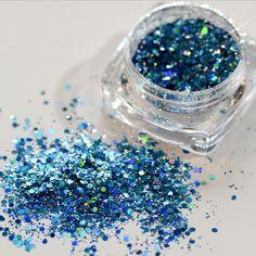 Bling Nail Art Glitter Powder Holographic Laser Sequins Pigment Manicure DIY