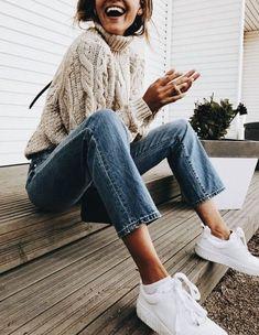 chunky knit fall sweater