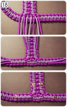 How to make a harness out of paracord (needs to be translated)