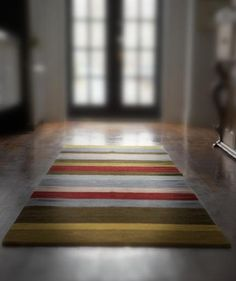 Gorgeous striped rugs.  colors!