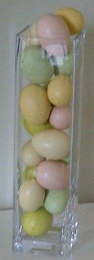pretty pastel eggs in a vase