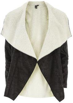 Izabel London Black Waterfall Faux Jacket on shopstyle.com