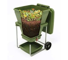 Buy Worm Farm Compost Bin - Continuous Flow Through Vermi Composter Worm Castings, Worm Tea Maker, Indoor/Outdoor, 20 gallons online - Toptrendygroup Outdoor Compost Bin, Best Compost Bin, Garden Compost, Vermicomposting Bin, Bokashi, Organic Fertilizer, Organic Gardening, Liquid Fertilizer, Gardens