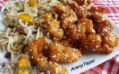 Kínai mézes-szezámmagos csirke recept fotóval