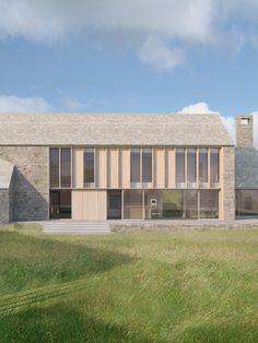 James Gorst Architects Contemporary Barn, Modern Barn, Contemporary Architecture, Modern Farmhouse, Facade Architecture, Residential Architecture, Barn Renovation, Rural House, Modern Architects