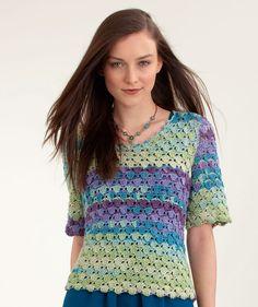 Short Sleeve Top free crochet pattern