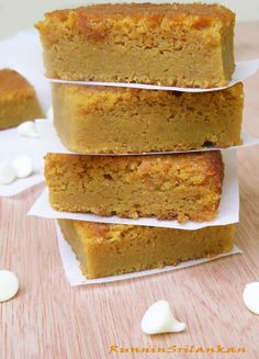 Pumpkin & White Chocolate Brownie Bars!