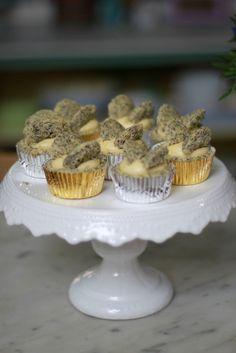 Lemon poppy butterfly cupcakes