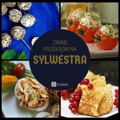 1) Oliwki w fecie  http://cooklet.com/pl/przepis/5098/oliwki-w-fecie  2) Pomidory nadziewane kulkami serowo - makrelowymi z kiełkami  http://cooklet.com/pl/przepis/551/pomidory-nadziewane-kulkami-serowo-makrelowymi-z-kielkami  3) Jajka faszerowane żółtym serem i pomidorami  http://cooklet.com/pl/przepis/6689/jajka-faszerowane-zoltym-serem-i-pomidorami  4) Sakiewki migdałowo - ryżowe http://cooklet.com/pl/przepis/8304/sakiewki-migdalowo-ryzowe