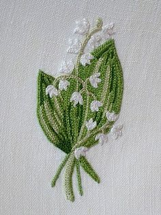 Em's Heart Antique Linens -Antique Porthault Embroidered Towels