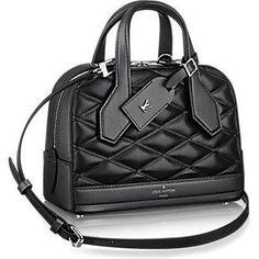 Louis Vuitton Dora Mini Malletage Bag in Noir as seen on Selena Gomez