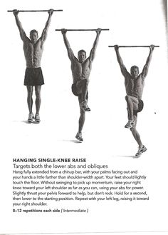 hanging single knee raise Pull Up Workout, Abdominal Exercises, Lower Abs, Physical Fitness, Perfect Body, Core, Health Fitness, Men, Athlete