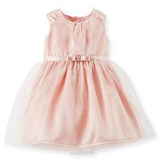 Carters Baby Girls Satin Bow Dress * Read more reviews of the product by visiting the link on the image. (This is an affiliate link)