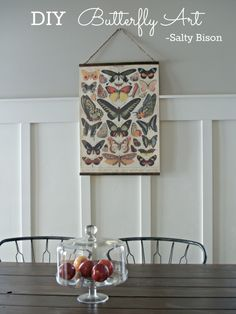 DIY butterfly art- perfect for Spring! From Salty Bison via www.thirtyhandmadedays.com