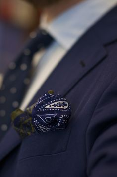 drakes-london:    Habotai print silk hank worn by JKF