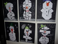 Every snowman is different Snow Crafts, Crafts To Do, Arts And Crafts, Winter Kids, Winter Christmas, Kindergarten, Snow Holidays, Winter Wonder, Winter Activities