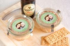 Triple Cheese Beer Spread recipe from My Own Ideas blog #recipe #appetizer #gift #favor #stpatricksday