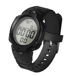 Montres Homme, Amlaiworld Montre en caoutchouc de sport de date de poignet Montre imperméable à la mode Boy LCD montre numérique Chronomètre