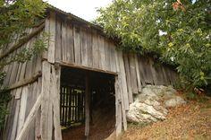 Old wood barn in Calizzano, SV - Italy