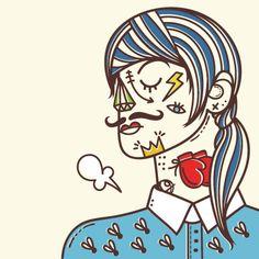 roma-gutierrez-sleepydays by Sr. Sleepless #srsleepless #illustration #ilustracion #creative #drawn #vector #handdrawn #colors #vintage #tattoo