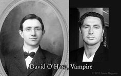Actor David O'Hara. I found the vintage photo on the left in an antique store last week, and was struck by how much it looked like D'oH. So I made this to go along with my collection of same.
