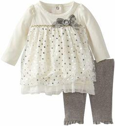 Nannette Baby-Girls Newborn 2 Piece Dotted Bow Dress Legging Set, Beige, 0-3 Months Nannette,http://www.amazon.com/dp/B00CC7F14E/ref=cm_sw_r_pi_dp_eoLrsb0G120T6818