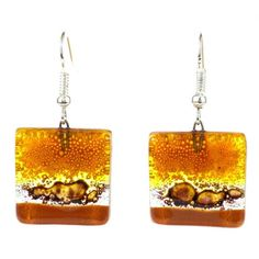 Handcrafted Square Glass Sahara Earring (Chile) - Overstock™ Shopping - Great Deals on Global Crafts Earrings