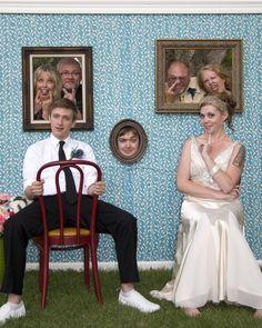 Un recuerdo vintage y muy original para colocar en el photocall de boda, ¿no crees?